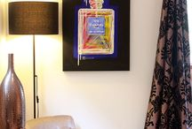 Merry Sparks Paintings In Situ / Here are some of my paintings within lovely interiors which give you an indication of how they can look.