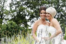Civil Partnership/Same Sex Ceremony / We love to welcome all of our couples to marry at the venue and can put options in place including two aisles for our brides.