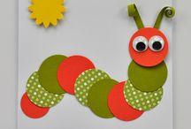 Children's caterpillar card