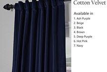 cotton velvet curtain