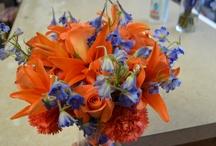 Gator Flowers / Various arrangments we have done, that are Orange & Blue....Go Gators!