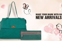 Make your mark with our New Arrivals! / Divas, carry your manifold items in a stylish and well-organized manner in our Newly Arrived products. Made of quality non-leather material and other stunning modern fabrics, these durable products are functional to carry when on the run. Available in various colors, designs and sizes, find the perfect pick that suits your style. Add one of these stunning fresh pieces to your wardrobe and set a trend, today! Make sure to visit www.baggit.com