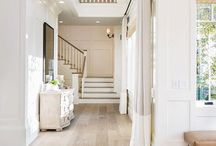 staircase white and wood