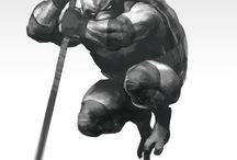Ninja turtles concept art