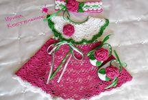 sukienki i ubranka na szydełku
