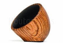 Houten speakers