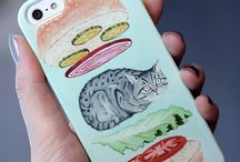 Cases + Skins for Phones/Laptops / Express yourself with unique designs for your iPhone + Laptop with some awesome artwork.