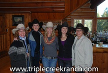 Women's Rocky Mountain Rendezvous / The adventurous team of women will spend their days riding the ridges and valleys checking fences and searching for wayward calves, or hiking, birding, fly-fishing, or any of a myriad of exciting activities. Evenings will be dedicated to culinary delights, fine wine, lively camaraderie, reflection, and fun in the western elegance of Triple Creek Ranch's lodge and cabins.