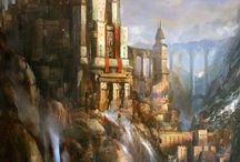 Slott och vattenfall