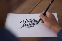 Wensky Malina / Rótulo para cerveja Wensky Malina ( beer, handmade, label, packaging, type, calligraphy, alchool, botlle, brush )