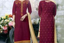Cotton Suits / Cotton Churidar Suits, Cotton Salwar Kameez