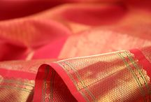 It Must Be Love / For this edition of our colour spotlight, we turn to a selection from the palette's most romantic avatar : a spectrum of red.  From passionate scarlets and fiery vermilions through to hot pink, rose, fuchsia and arakku, join our celebration of the colour of love in this curation of kanakavalli kanjivarams.