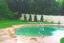 The Pool Is Opened... Even In The Pouring Rain / by Donna Palmerio