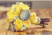 Yellow and Silver Wedding Finds / A lot of my customers are brides looking for inspiration. Here are some gorgeous finds for your yellow and silver wedding!
