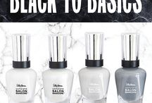 NEW Black to Basics Collection / Complete Salon Manicure with Keratin Complex for stronger nails.