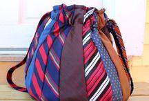 borsa fatta con cravatte