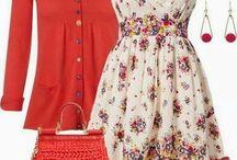 Vestito x stoffa rosa-fiori