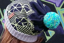 Kubixl_bobble hats / Crazy, bright, colourful, patterned bobble hats, made in Britain, hand finished, with mix 'n' match pom poms