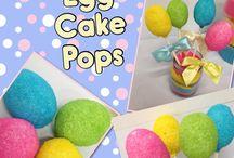 Easter egg Cake Pops / find the recipe at BakersBodega.com