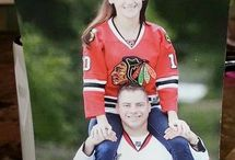 Blackhawks wedding invite
