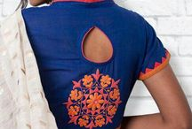 embroidered high neck blouse