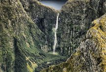 Waterfall &  Forest Wild View