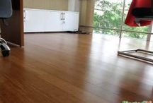 Sàn tre Ali ép khối màu cafe / Hình ảnh công trình sàn gỗ tre Ali ép khối màu cafe