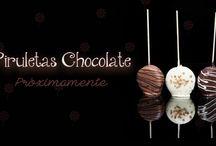 Piruletas Chocolate, Nubes,..