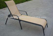 Pool lounge chairs and sofa