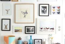 Mur de cadres photos