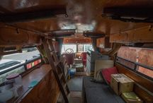 DIY Van Conversion / Repurposing that hunk of wheels into the perfect ride for camping, road trips and surfing adventures. Live life just passing through in style and comfort.