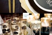Black and Champagne Wedding / Black and Gold wedding ideas.