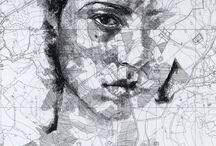 Portretten op wegen kaarten