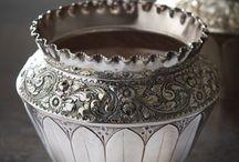 Silverplate Fern Pots