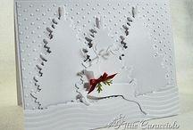 Fehér karácsonyi lapok