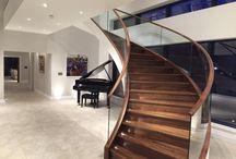 Timber Handrail - Glass Balustrade