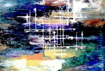 Marina RAYKOVA  abstract art / Volume painting with acrylic paints using acrylic pastes and gels gives an unusual effect and transparency at the same time pastositi.