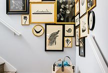 Corner gallery wall