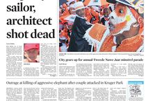 Front pages- January 2014 / Front pages of the Cape Times