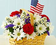 4th of July, Memorial & Veteran's Days / Commemorative floral arrangements to honor our Country and soldiers.