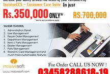 IncisiveCCS-Customer Care Suite / Customer Care Suite Software- IncisiveCCS..! Increase your ability to meet the needs of your customers by IncisiveCCS – Customer Care Suite in just Rs. 350,000 (Single License, Single PC) Salient Features: 1. Administration Panel 2. User Management 3. Repair Order Management 4. Department Management  5. Items / Parts Management 6. Dealer Management 7. Parts Management 8. Warranty Card Management and much more customizable features