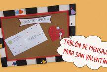 Tablón de Corcho para Mensajes / Te traemos una ideas para regalar en este día de San Valentín, un tutorial de como hacer un Tablón para enamorados en corcho blanco, corcho y cartón; además dos ideas de mensajes: Bono de Besos y Tarjeta con Las Llaves de Mi Corazón, ideales para colocar en el tablón.