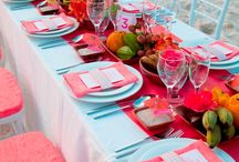 Event: Turquoise and coral / Turquoise, coral, wedding, event