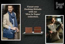 "Flaunt your Dashing Attitude with our 'Men In Vogue' Collection! / Our Classy and Authentic, ""Men In Vogue"" Collection has been inspired keeping in mind the Modern, Stylish and Confident man. Gentlemen, convey a clean and dynamic image with our breathtaking Collection. Time to flaunt your dashing attitude with our special range available at Exclusive Stores & www.baggit.com"