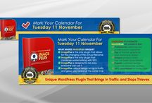Banners / Website banners and slides, Banner Ads for online marketing campaigns.