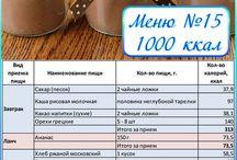 меню 1000ккал