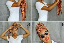 Hair wrap scarf