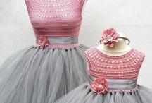 Tütülü örgü elbise
