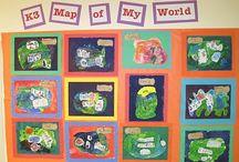 Montessori - Me on the Map Theme Unit