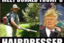 Donald Trump + his hairdresder